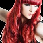 włosy czerwone