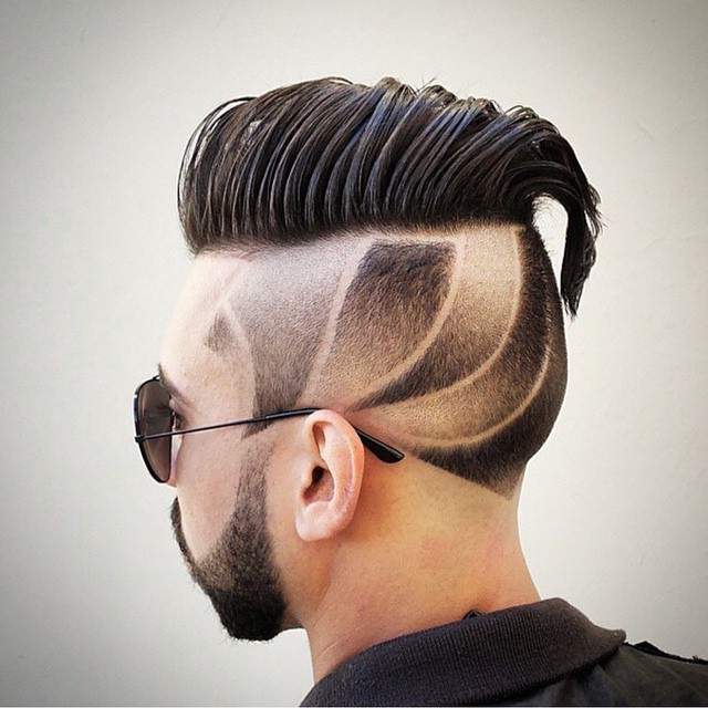 męskie strzyżenie włosów